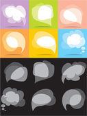 Vector bubbles for speech — Stock Vector
