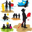 Set vector silhouettes childhood — Stock Vector #12851698