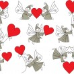 Set valentine elves — Stock Vector