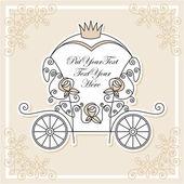 Diseño de invitación de boda — Vector de stock