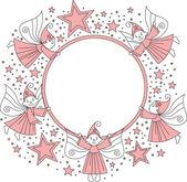 Photo frame for girl — Stock Vector