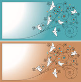Pozvánka s ptáky — Stock vektor