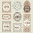 Vector de stock : Set vintage labels