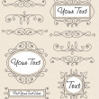 Vector de stock : Vector set vintage ornament
