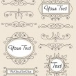 Vector set vintage ornament — Image vectorielle