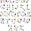Stockvector : Flower latin alphabet
