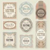 Set vintage etiketten — Stockvector