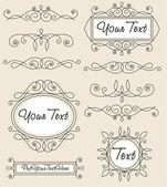 Vector set vintage ornament — Vector de stock