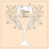 дизайн свадебного приглашения — Cтоковый вектор