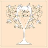 Bruiloft uitnodiging ontwerp — Stockvector