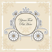 Wedding invitation design — Stock Vector