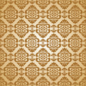 Seamless baroque wallpaper — Stock Vector