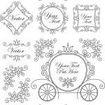 Set vintage vector ornaments — Stock Vector