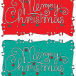 Stock Vector: Merry christmas hand lettering