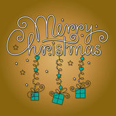 Frohe weihnachten hand schriftzug — Stockvektor