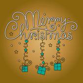 Vrolijk kerstfeest hand belettering — Stockvector