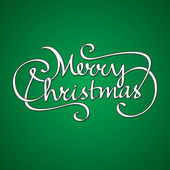 Merry christmas hand lettering — Stock Vector