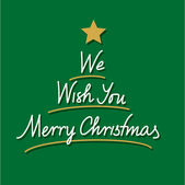 We wish you merry christmas hand lettering — Stock Vector