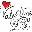 День Святого Валентина ручной надписи — Cтоковый вектор