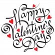 Happy valentine's day hand lettering — 图库矢量图片