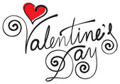 Valentine's day hand lettering — Stock Vector