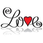 Amor mano letras — Vector de stock