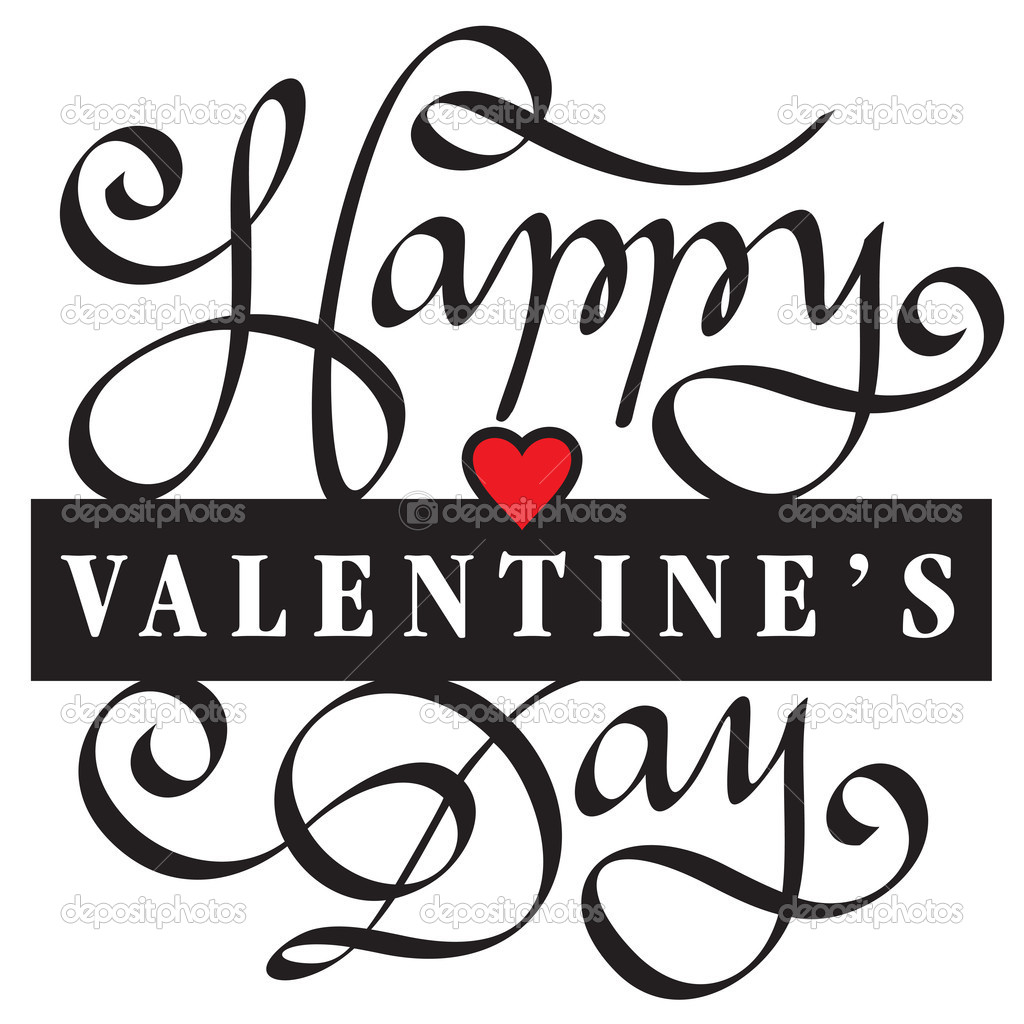 Animated Free Happy Valentines Day Clipart Images in Black
