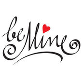 Be mine hand lettering — Stock Vector