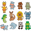 Set funny cartoon animals — Vetorial Stock #29311109
