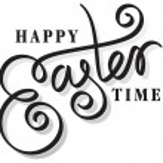 Easter hand lettering — Stock Vector