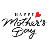 Happy mothers day hand lettering — Stock Vector