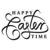 Happy easter hand lettering — Stock Vector