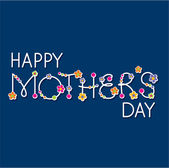 Vector happy mothers day handlettering headline — Stockvector