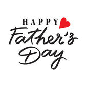 Fathers day hand lettering handmade calligraphy — Stock Vector