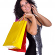 Stock Photo: Woman with shopping bag