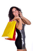 Woman with shopping bag — Foto Stock
