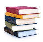 Stapelen van oude boeken — Stockfoto