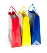 Shopping bag isolated against — Foto Stock