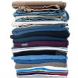Stock Photo: Stack of clothing isolated on white