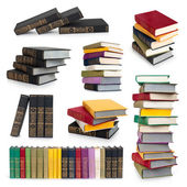 Books collection isolated on a white background. — Stock Photo