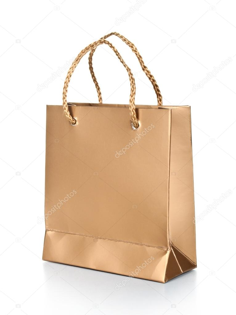 Gift bag isolated on a white background — Stock Photo #12899158
