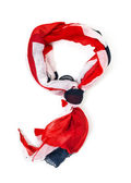 Colorfull scarf isolated on white background — Stock Photo