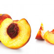 Stock Photo: Collection of peaches isolated on white background