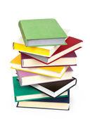Pile of books isolated on white background — Stock Photo