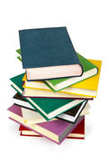 Pile of books isolated on white background — Stock Photo