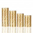 Gold coin stack isolated on white — Stock Photo