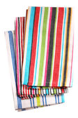 Colorful kitchen towels isolated on white background — Stock Photo