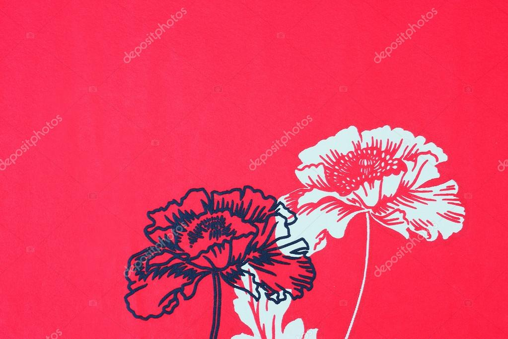 Flower Pattern Wallpaper Background Floral Background With Flowers Red Wallpaper With Flower Pattern