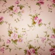 Fragment of colorful retro tapestry textile pattern with floral ornament useful as background — Stock Photo #29284435