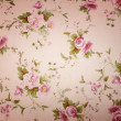 fragment of colorful retro tapestry textile pattern with floral ornament useful as background — Stock Photo